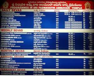 Seva Dress Code - Tirumala Tirupati